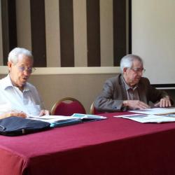 M. Roman, vice-président et Me Simon, président