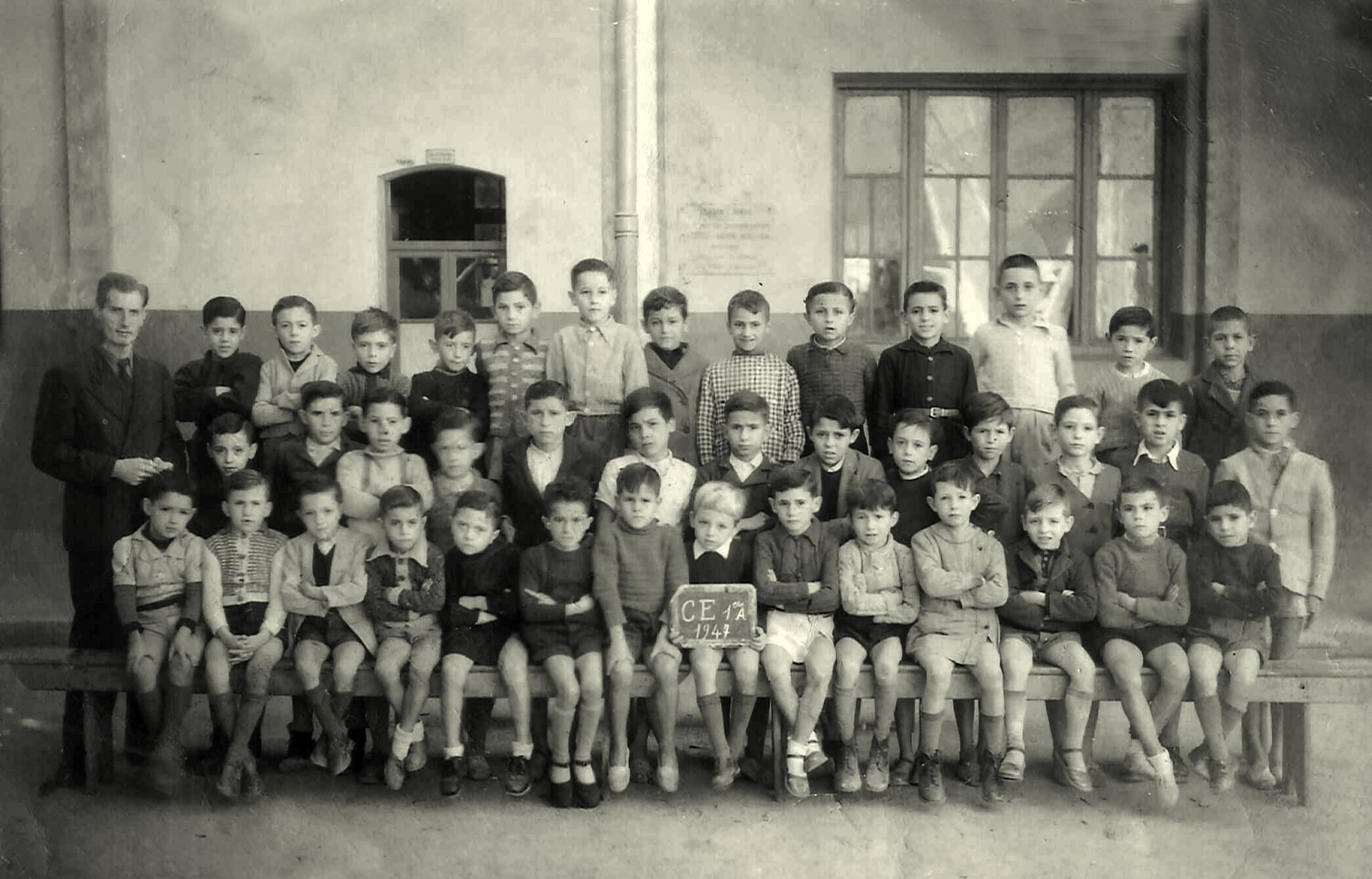 Perregaux - Classe de CE1 - 1947