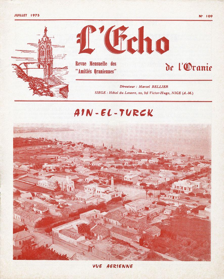 Echo de l'Oranie- n°109 - juillet 1975