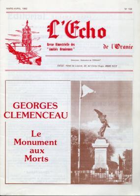 Echo de l'Oranie - n°159 - mars 1982