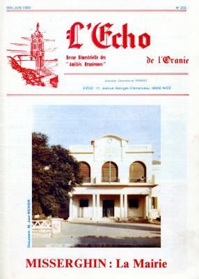 Echo de l'Oranie - n° 202 - Mai 1989