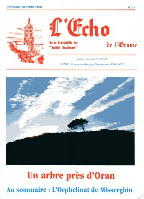 Echo de l'Oranie - n° 217 - Novembre 1991