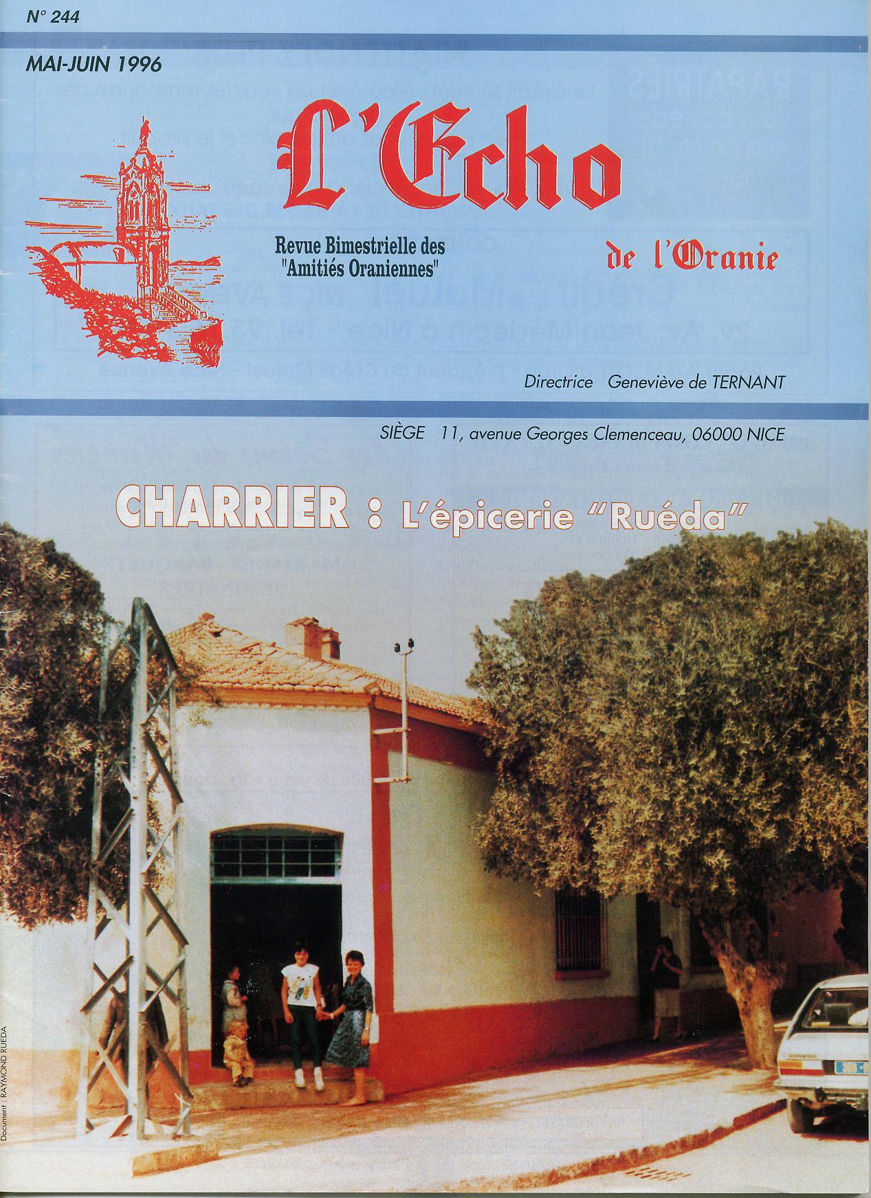 Echo de l'Oranie - n°244 - mai 1996