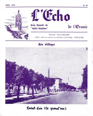Echo de l'Oranie - n° 87 - Avril 1973