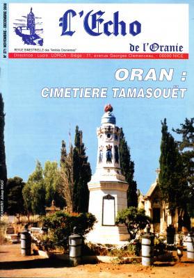 Echo de l'Oranie - n°271 - novembre 2000