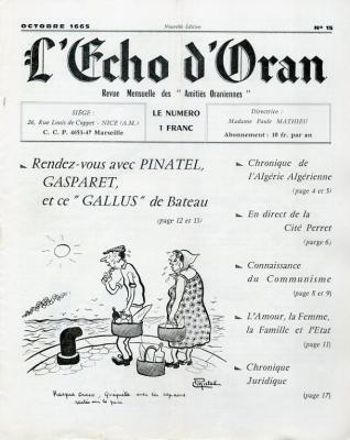 Echo de l'Oranie - n°15 - octobre 1965